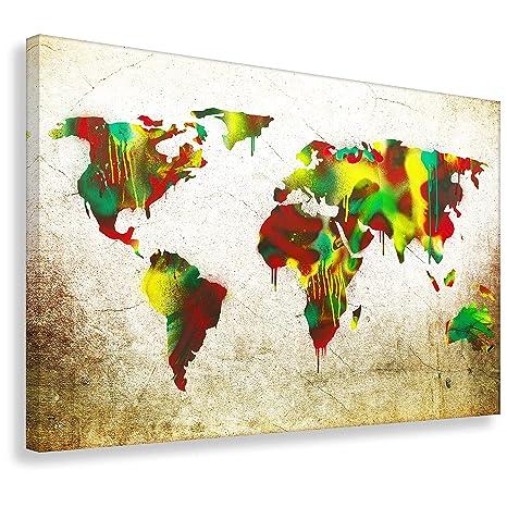 Kunstbruder Impresión de Bruder Mapa del Mundo by de 2 cm Worldmap (DIV. Variantes