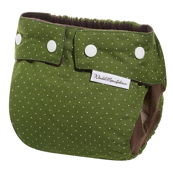 Windelmanufaktur pañales de tela: paquete para principiantes, pañales reutilizables y lavables hechos en Alemania verde Wiesenglück Talla:4 bis 11 kg: ...