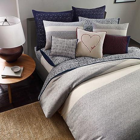 ED Ellen DeGeneres Levitt Queen/Full Duvet Cover Set Ivory Navy Blue & Amazon.com: ED Ellen DeGeneres Levitt Queen/Full Duvet Cover Set ...