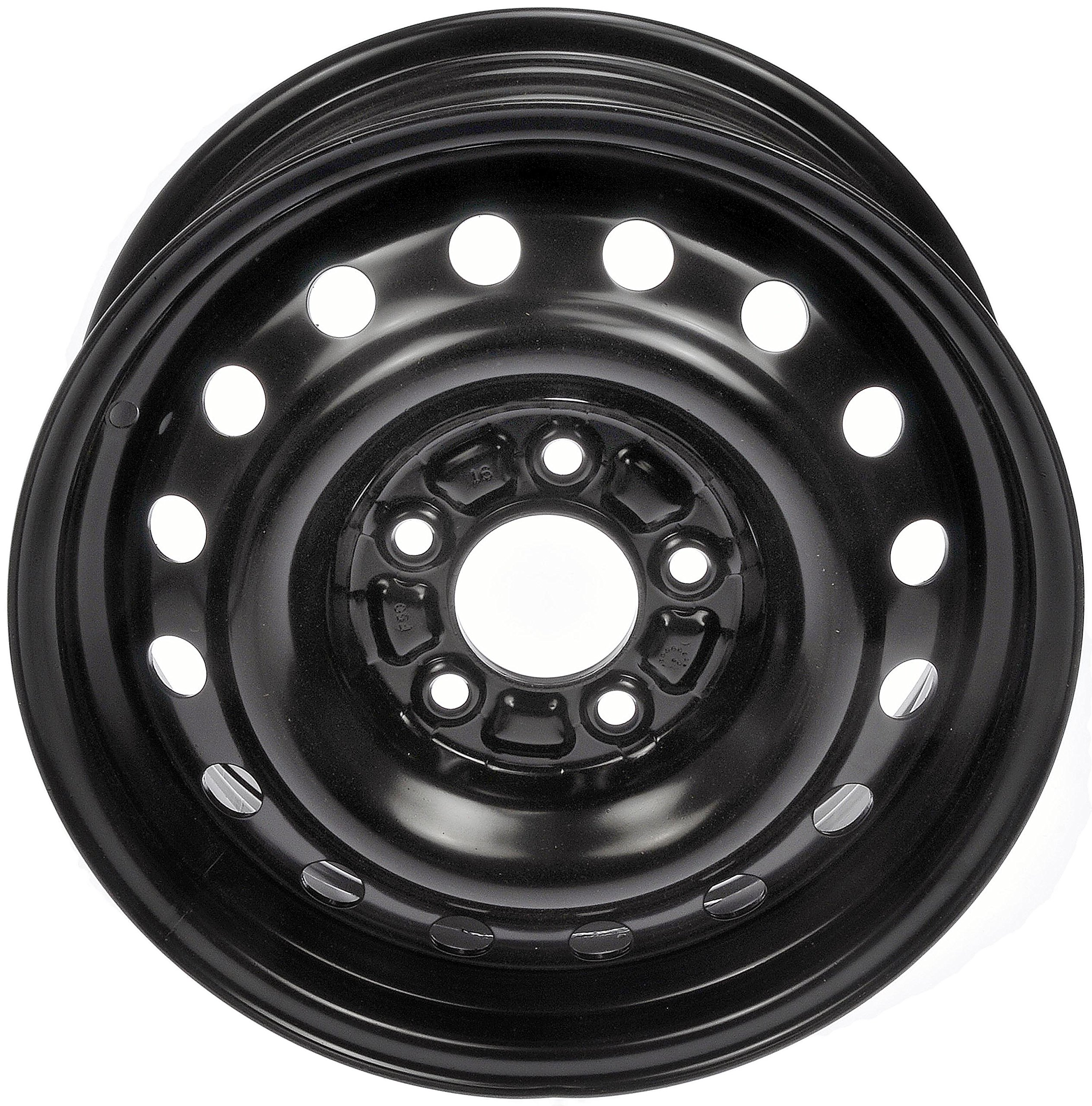 Dorman 939-165 Black Wheel with Painted Finish (15 x 6.5 inches /5 x 114 mm, 39 mm Offset)