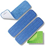 """Microfiber Pros Reusable 18"""" Mop Pads - 3 Pack and"""