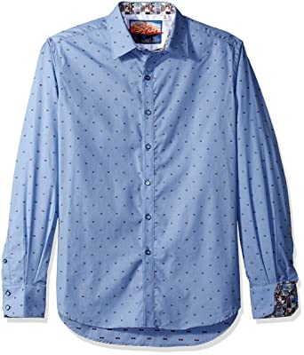 d3dc9f509c Amazon.com: Robert Graham Men's Platt Long Sleeve Classic Fit Shirt:  Clothing