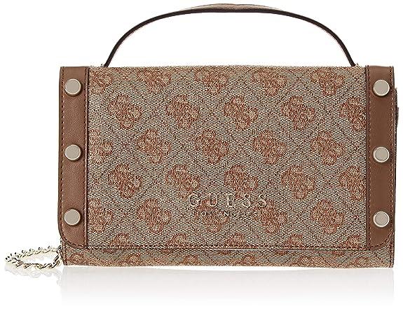Guess - Florence, Bolsos de mano Mujer, Marrón (Brown/Bro), 21.5x13.5x4 cm (W x H L): Amazon.es: Zapatos y complementos