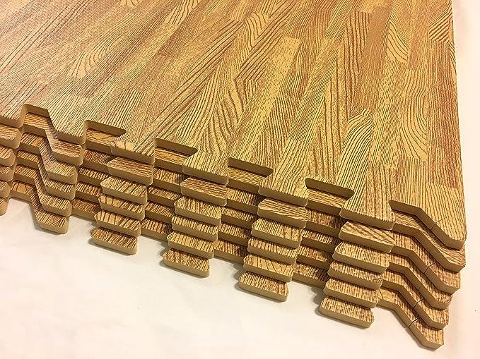 Amazon.com: Rainforest 24 sqft EVA grano de madera suelos de ...