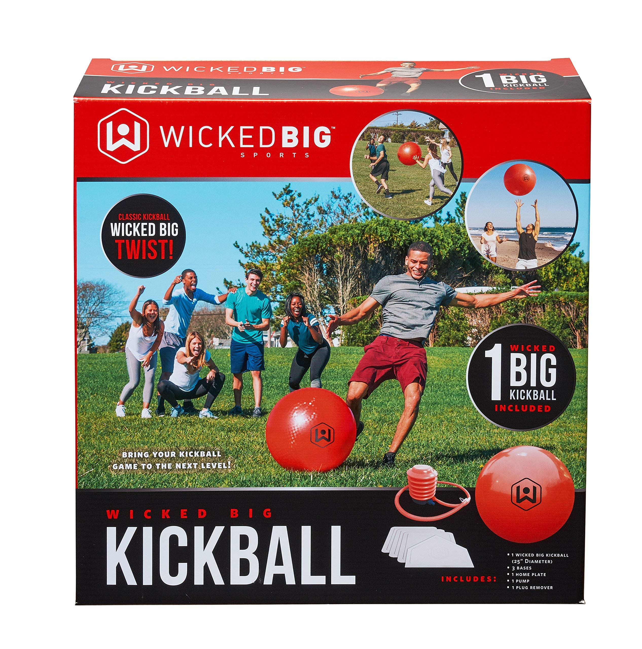 Wicked Big Sports Kickball-Supersized Kickball Outdoor Sport Tailgate Backyard Beach Game Fun for All (Renewed)