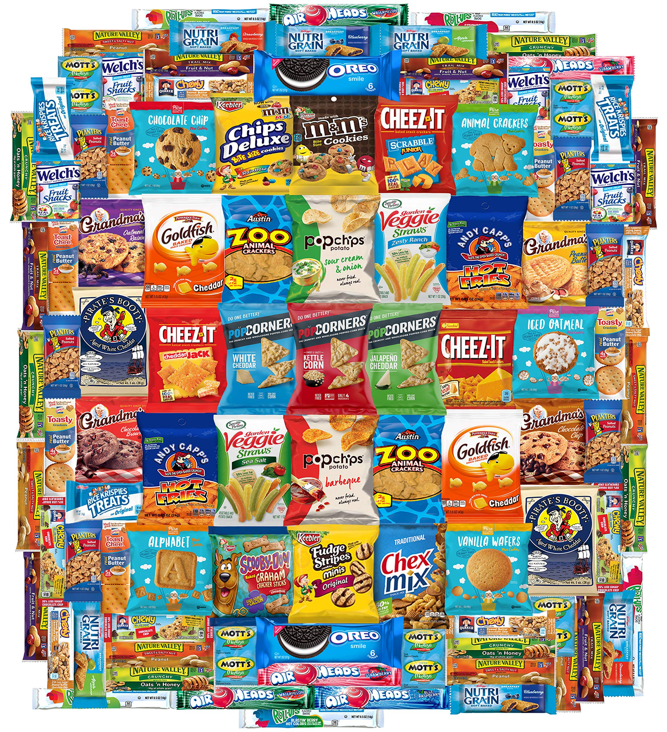 Crunch n Munch Ultimate Care Package Assortment Gift Box (100 Count) by Custom Varietea
