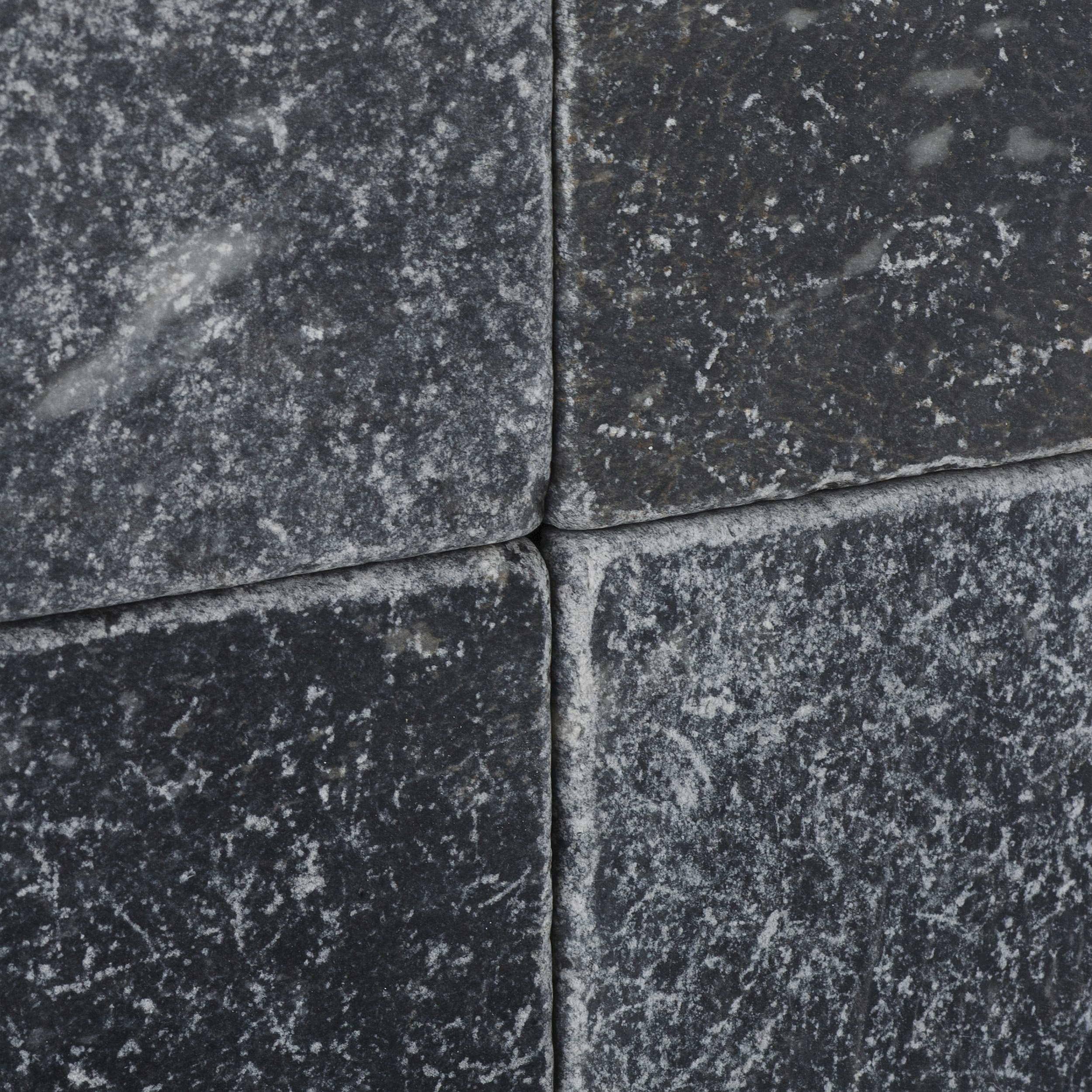 Taurus Black Marble 6'' X 6'' Tumbled Field Tile - Box of 5 sq. ft.
