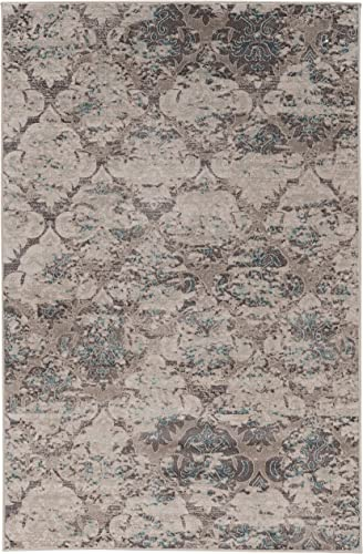 Linon Vintage Collection Trellis 8 X10 , Grey Area Rug, 8 x 10 , Gray