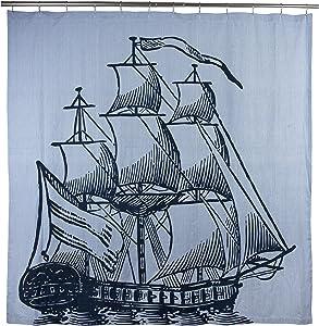 Thomas Paul Galleon Shower Curtain, Ink