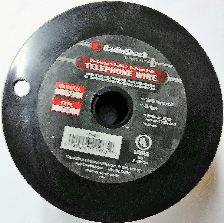 Amazon.com: Radio Shack 100-Ft. 4-Conductor Phone Cable: Electronics