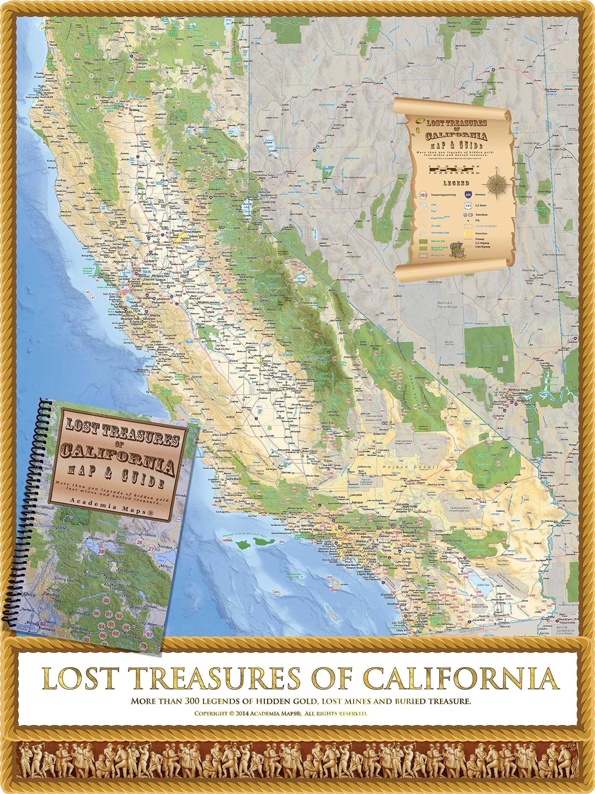 Lost Treasures Of California Map Guide Academia Maps - Maps of california