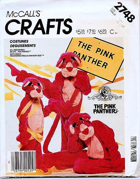 McCalls 2748 - Patrón de costura para disfraz de pantera rosa ...