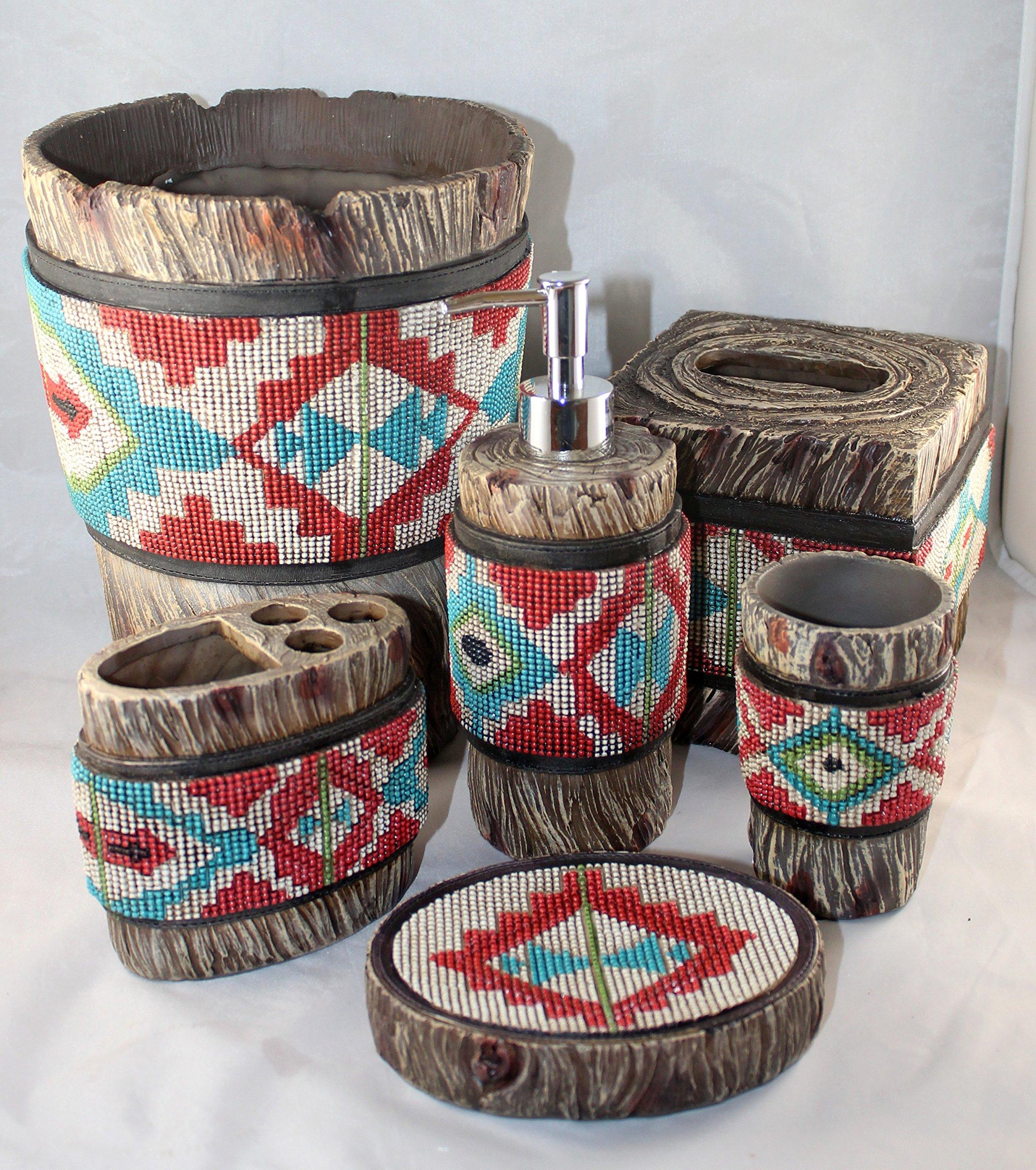 Southwestern Beaded Navajo Bathroom Vanity Set