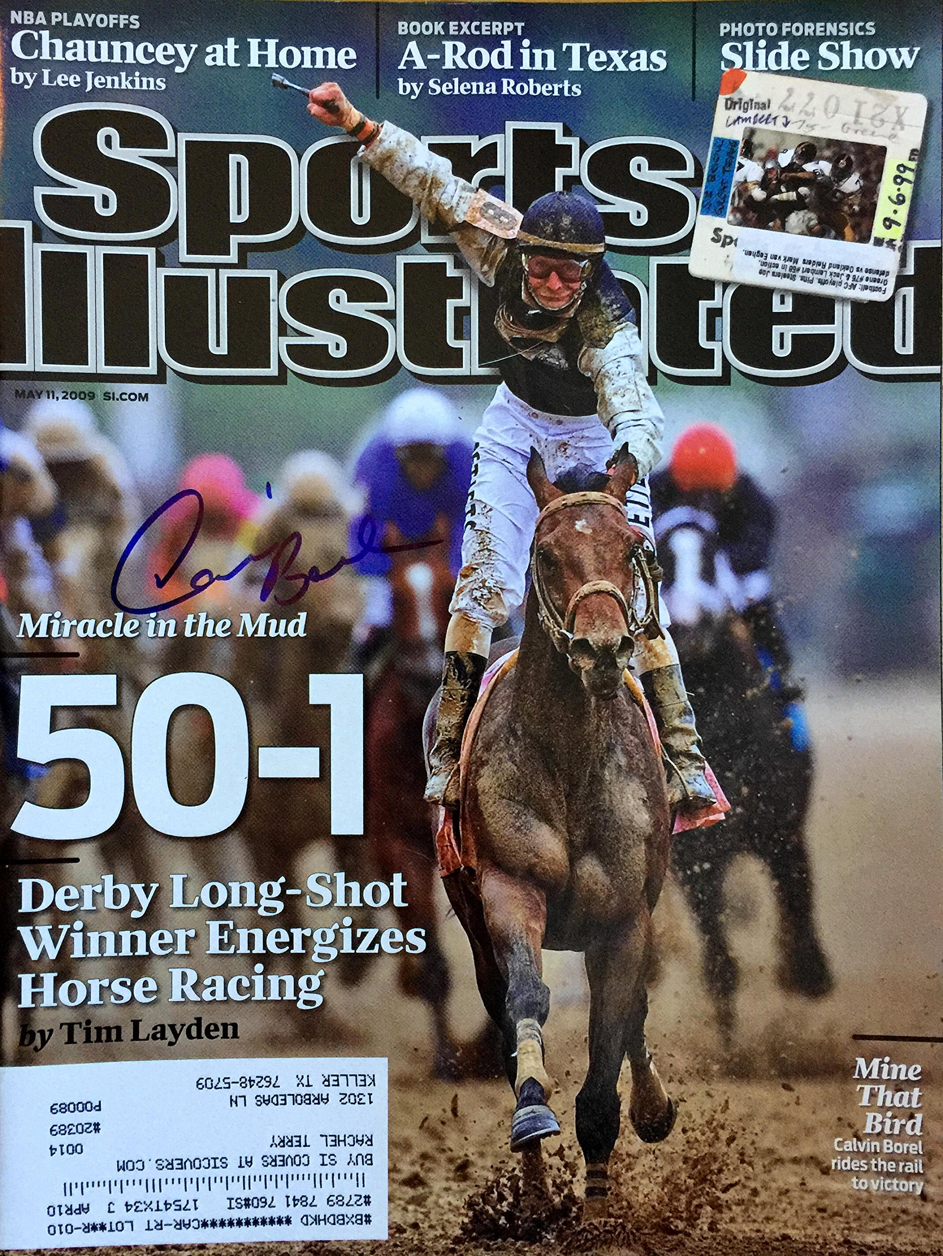 Calvin Borel KENTUCKY DERBY jockey autographed Sports Illustrated magazine 5/11/09