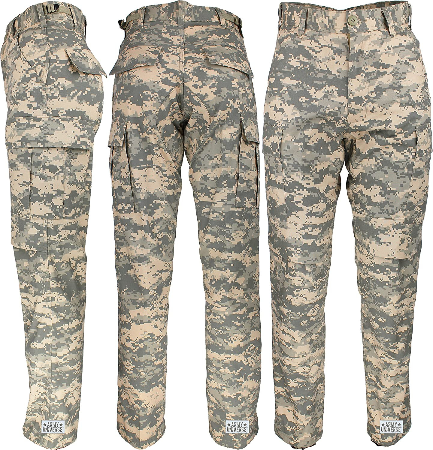 Amazon.com  Mens ACU Digital Camo Poly Cotton Military BDU Army Fatigues  Cargo Pants with Pin  Clothing 96127876fb5