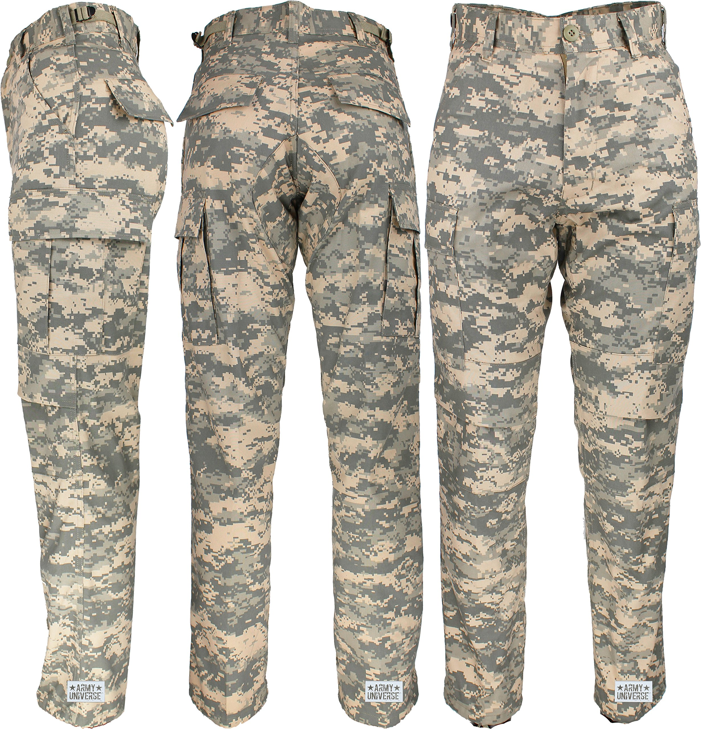 Army Universe Mens ACU Digital Camouflage Military BDU Cargo Pants with Pin  (W 31-35 - I 29.5-32.5) M - 8685-M   Pants   Clothing 45dfa166163