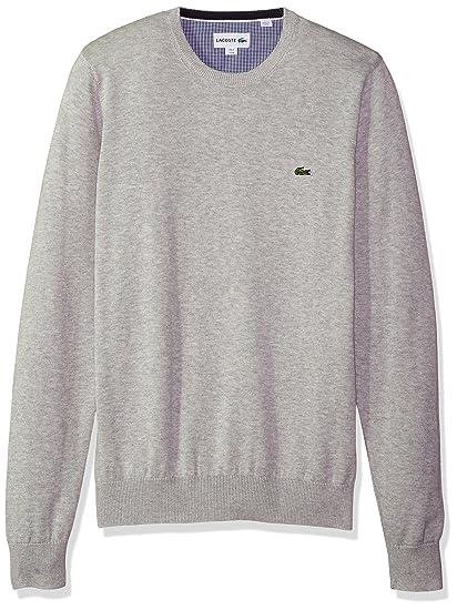 929c92e822 Lacoste Men's Crewneck Cotton Jersey Sweater with Green Croc