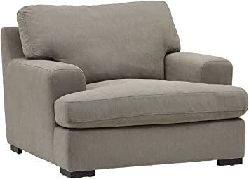 """Amazon.com: Amazon Brand – Stone & Beam Lauren Down-Filled Oversized Living Room Accent Armchair With Hardwood Frame, 46""""W, Slate: Furniture & Decor"""