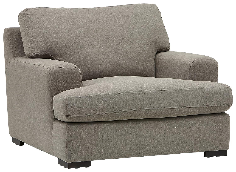 "Stone & Beam Lauren Down Filled, Overstuffed Chair, 46""W, Slate"