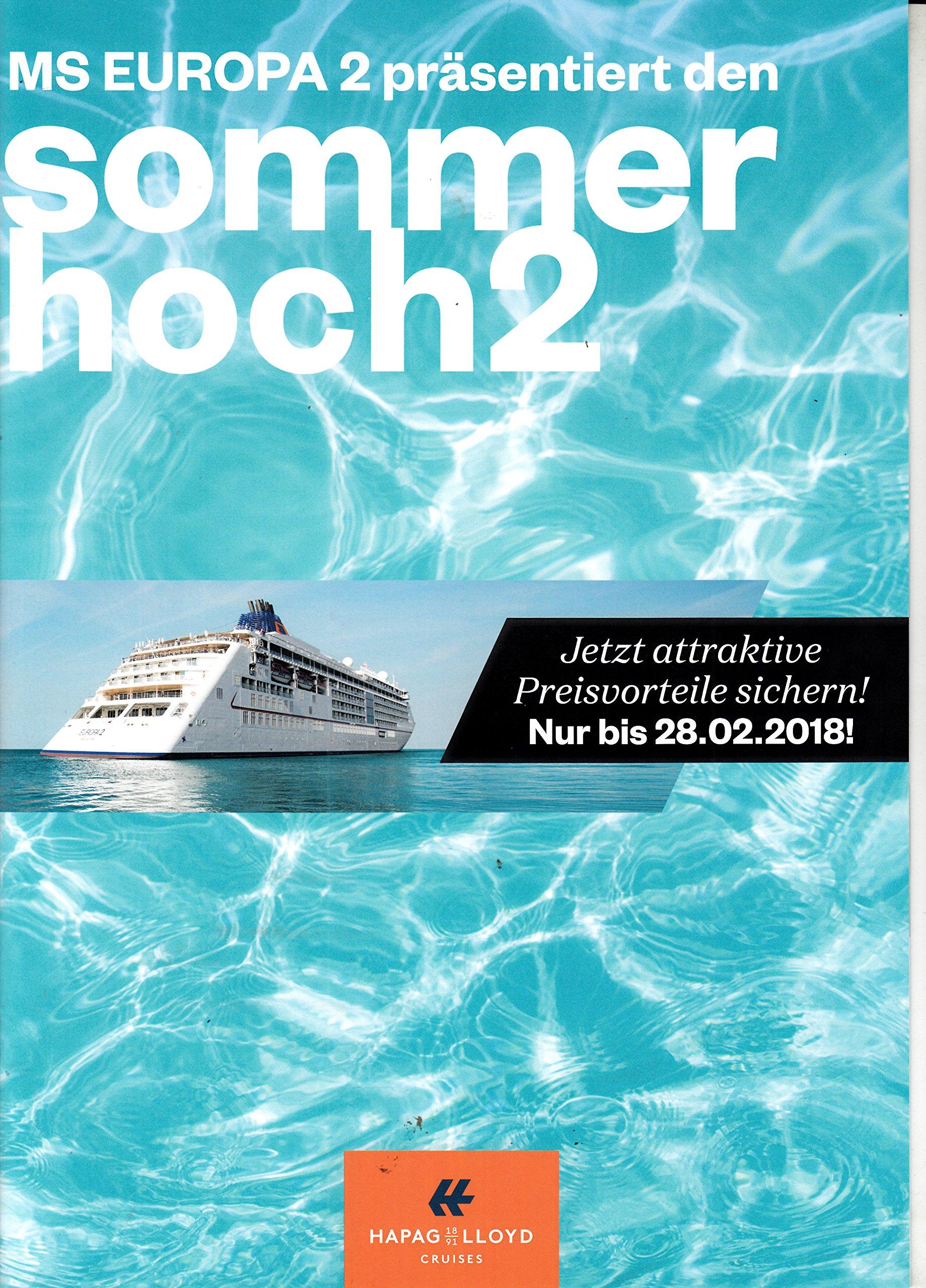 Vorschau von Top Marken Sortendesign Hapag Lloyd Folder 2018 MS Europa 2 Werbung Kreuzfahrt ...