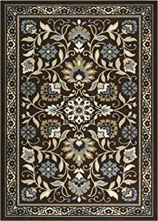 product image for Maples Rugs Florence Area Rugs for Living Room & Bedroom [Made in USA], 7 x 10, Coffee Brown