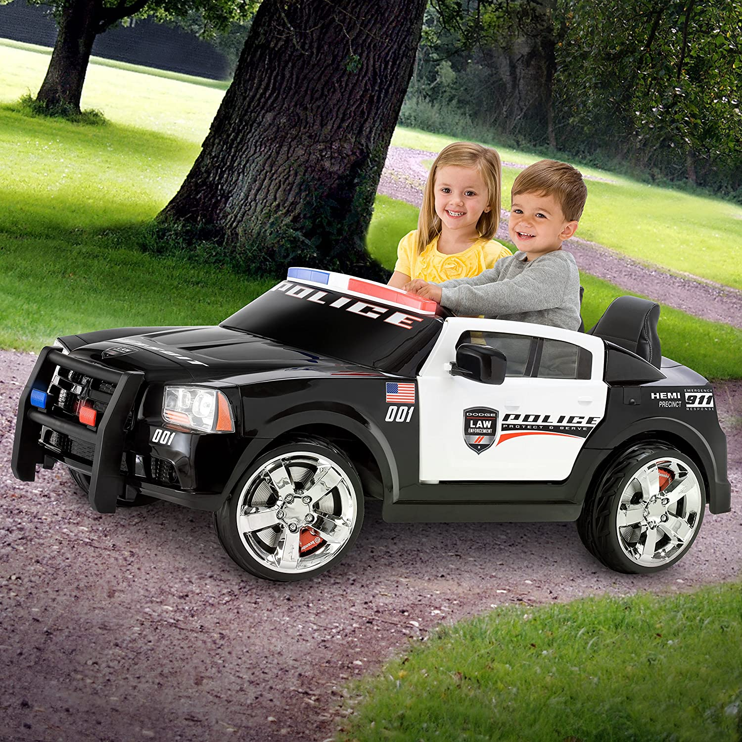 Amazon Kid Trax Dodge Charger Pursuit 12V Police Car KT1111WM
