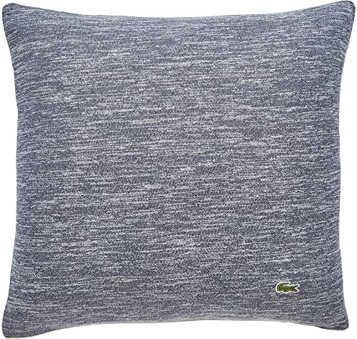 Lacoste Textured Knit Decorative Pillow, 18×18, Blue Gray