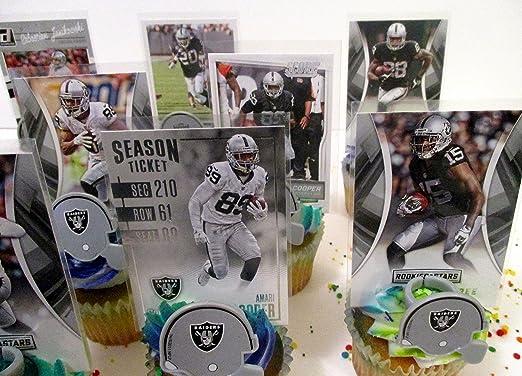 Amazon.com: Oakland Raiders Fiesta de cumpleaños Cupcake ...