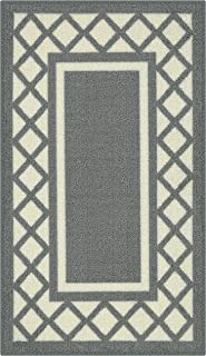 product image for Maples Rugs Bella Kitchen Rugs Non Skid Accent Area Carpet [Made in USA], 1'8 x 2'10, Grey