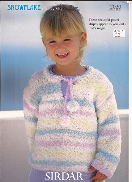 Amazon Sirdar Knitting Pattern 2020 Sweater For Children 1yr 12