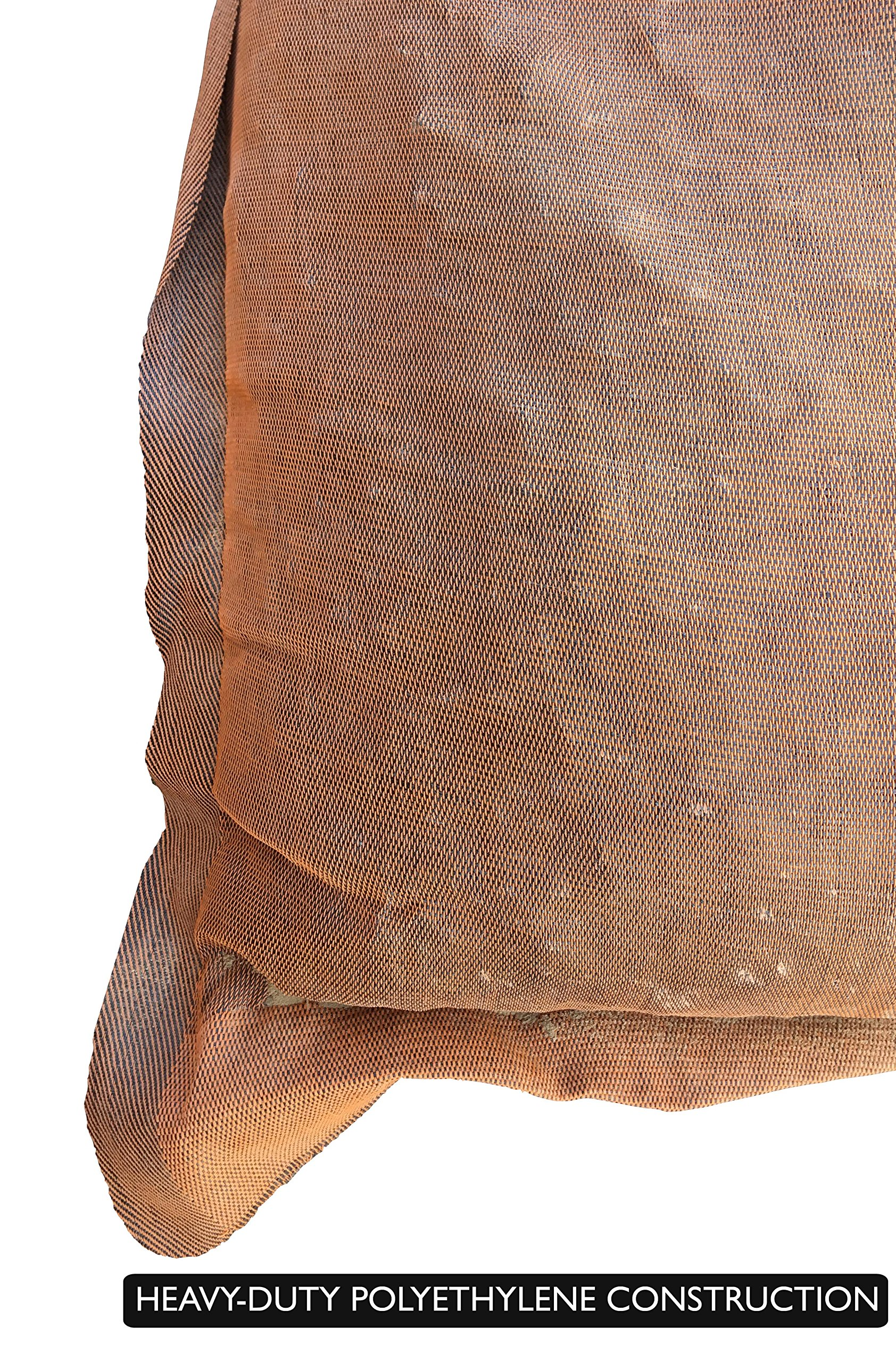 Sandbaggy - 17'' x 27'' Long-Lasting Sandbags - Brown Color - Lasts 1-2 Yrs - Monofilament (Pack of 100) by Sandbaggy (Image #5)