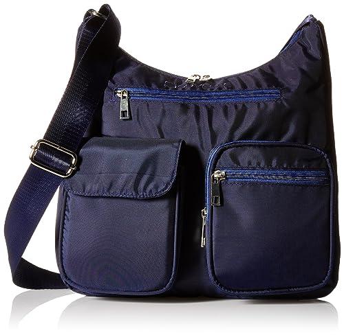 Suvelle Lightweight Carryall Travel RFID Blocking Protection Crossbody Bag Multi Pocket Shoulder Handbag BA10: Amazon.es: Zapatos y complementos