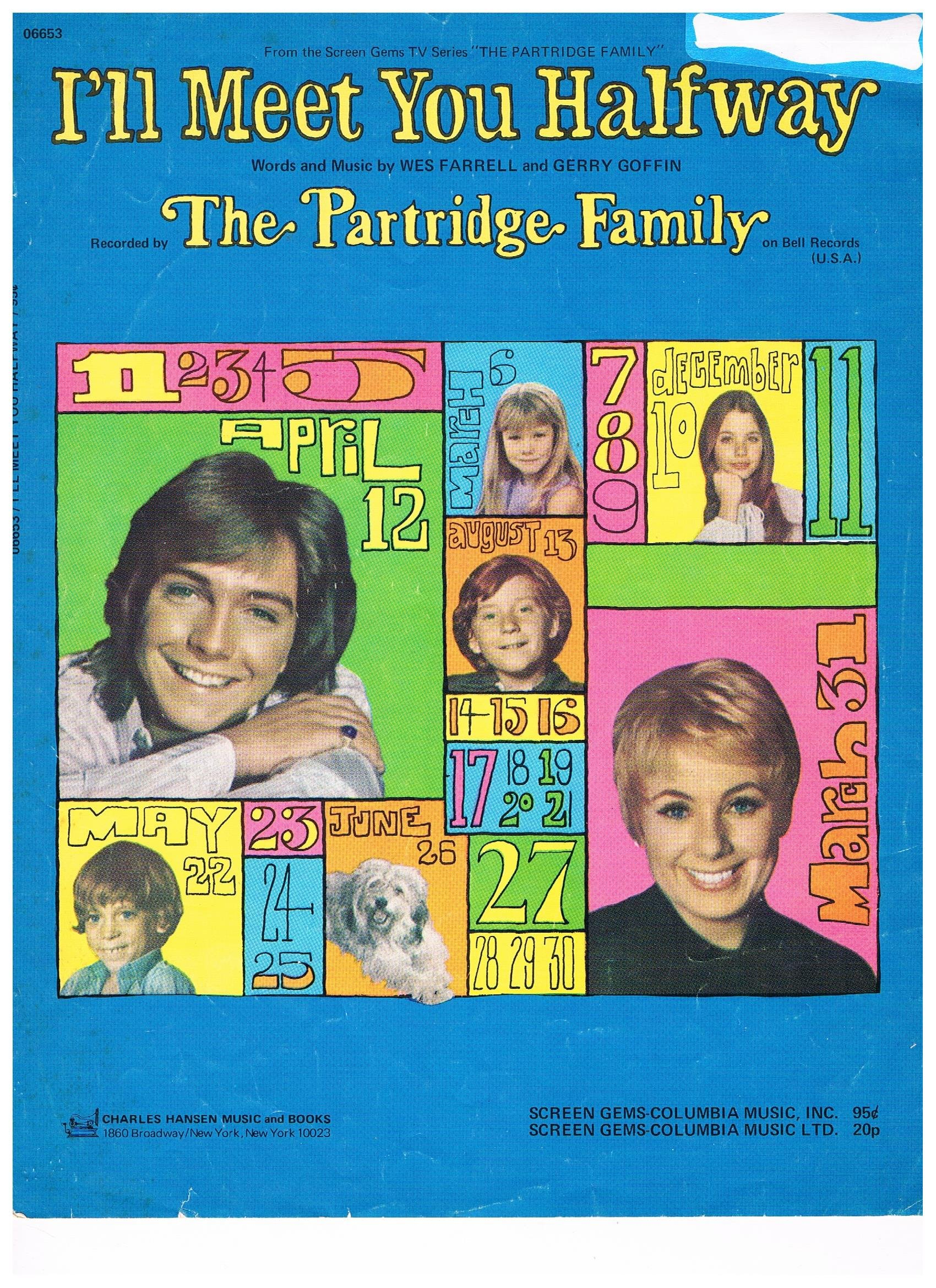 Amazon.com: I'll Meet You Halfway - Recorded by The Partridge Family (Piano  Vocal Guitar): Words and Music by Wes Farrell, and Gerry Goffin: Books