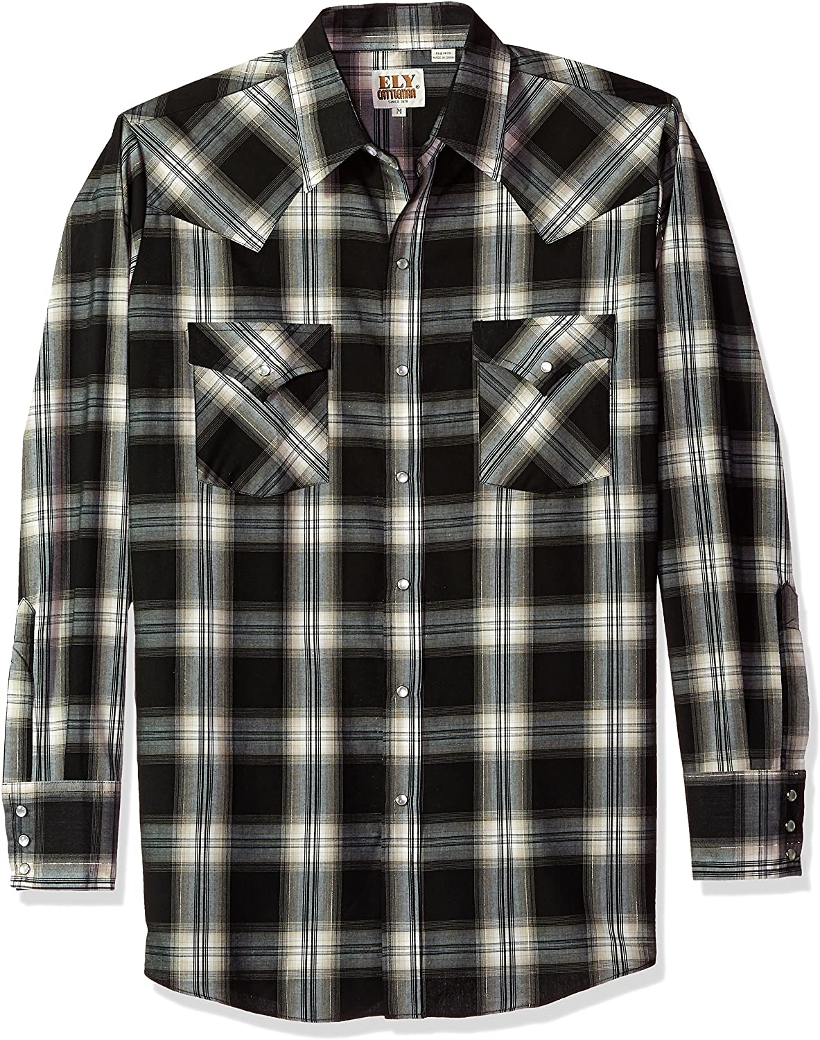 ELY CATTLEMAN Men's Long Sleeve Lurex Plaid Shirt
