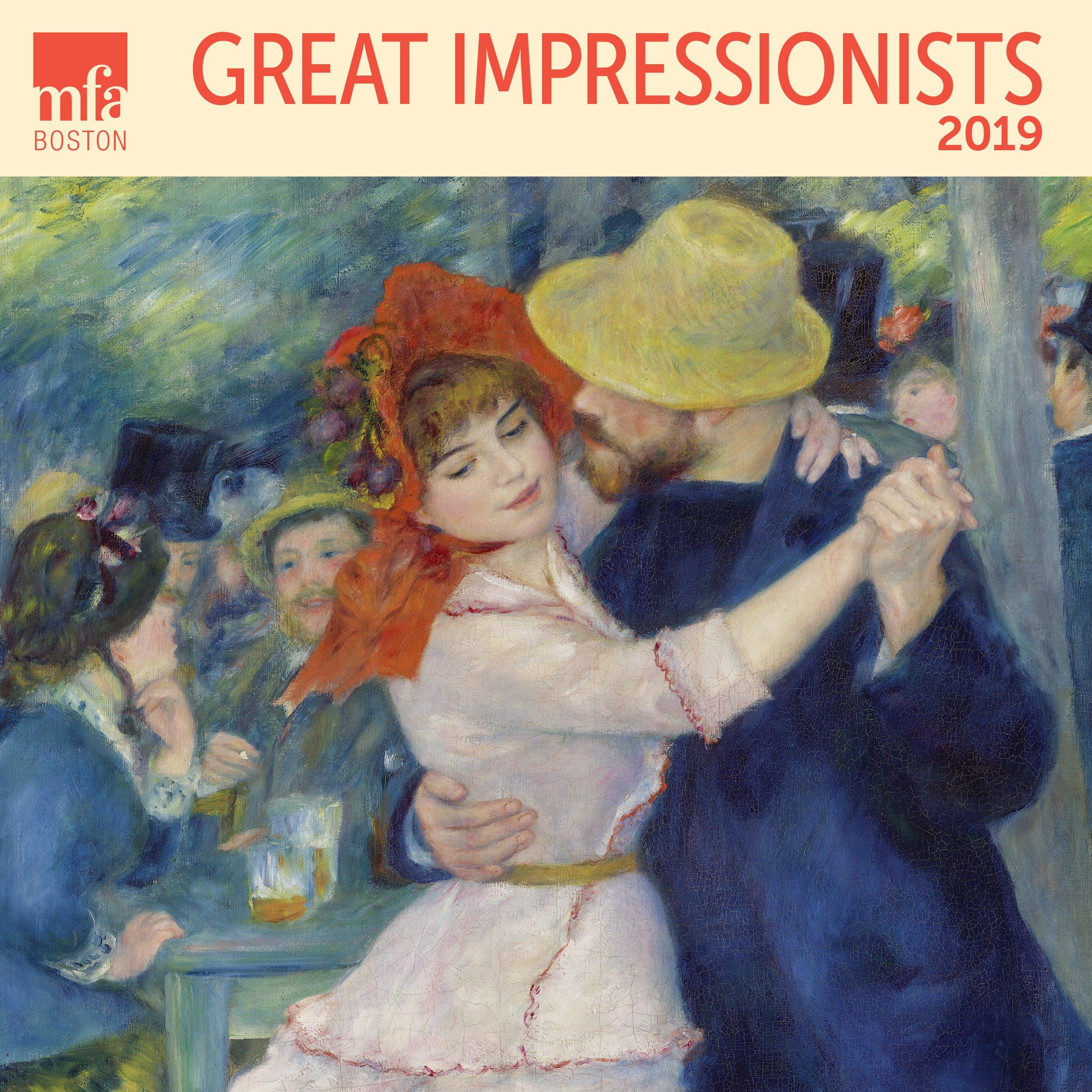 Great Impressionists MFA, Boston Wall Calendar 2019 Monthly January-December 12'' x 12''