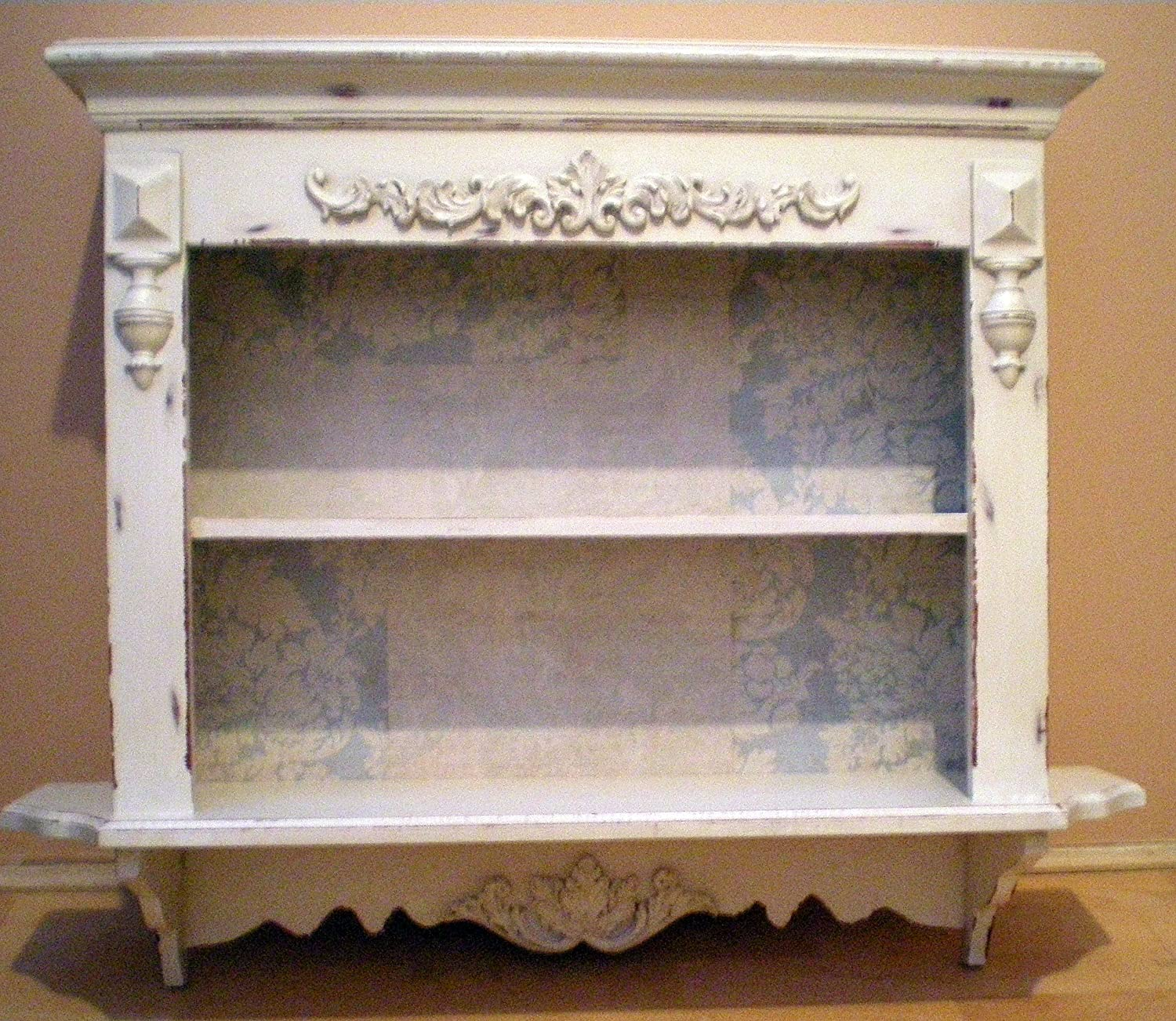 French vintage country style cream carved wall shelf unit free french vintage country style cream carved wall shelf unit free delivery amazon kitchen home amipublicfo Image collections