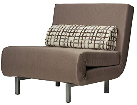 buy popular bf228 2149a Cortesi Home Savion Convertible Accent Chair-Bed, Taupe
