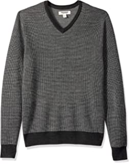 6aa97fad51c0 Amazon Brand - Goodthreads Men's Merino Wool V-Neck Birdseye Sweater