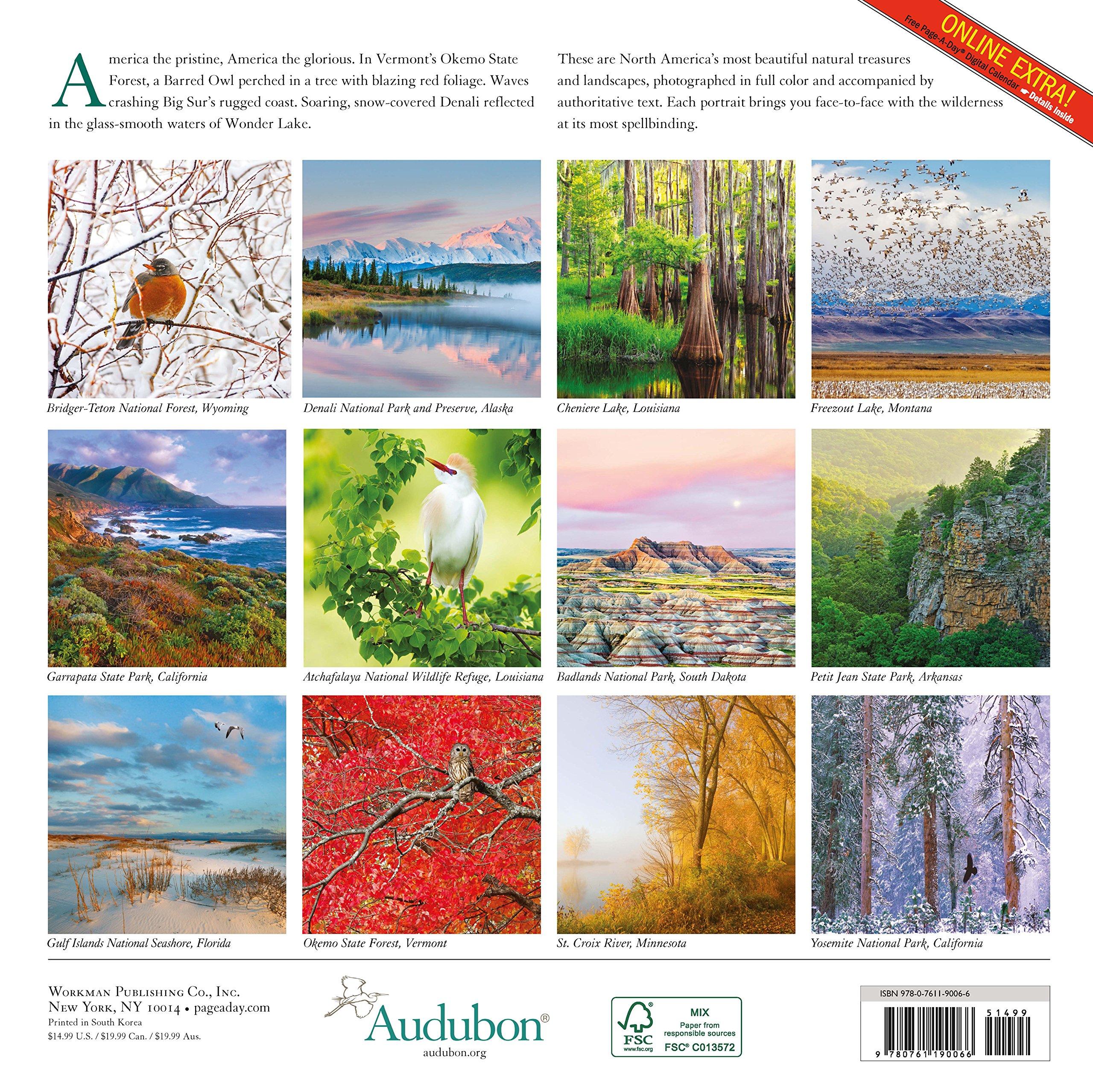audubon nature wall calendar 2017 calendar amazon. Black Bedroom Furniture Sets. Home Design Ideas