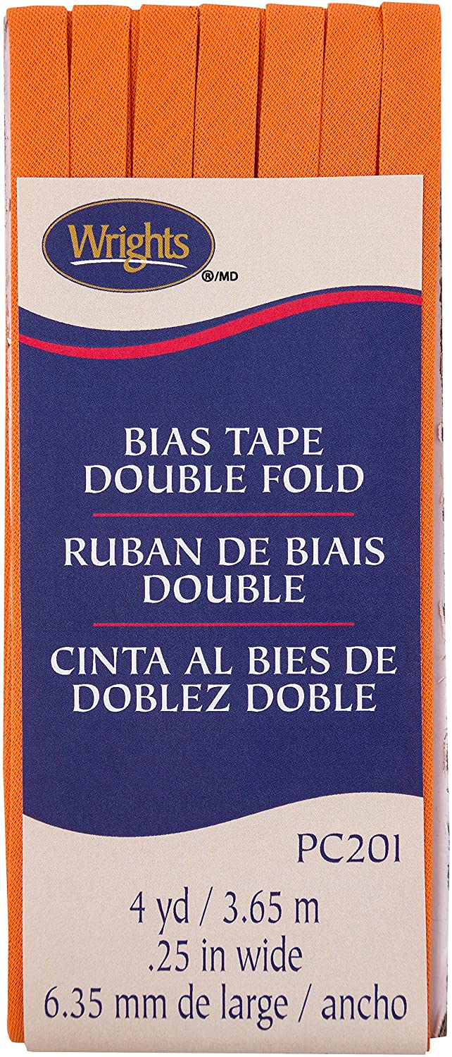 Wright Products Wrights Orange Peel Double Fold Bias Tape 1/4 X 4yd 1172012197