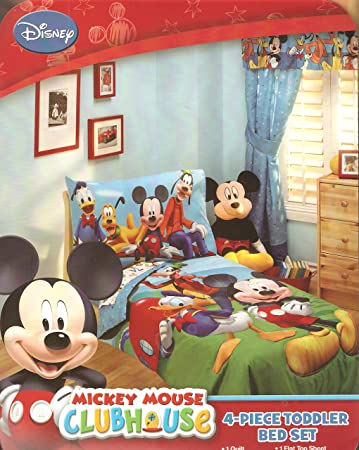 Good Disney Mickey Mouse Playground Pals 4 Piece Toddler Bedding Set