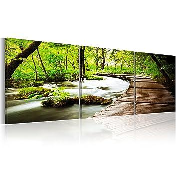 Amazon.de: Murando® Bilder 150x50 Cm - Xxl Format - Fertig ... Wandbilder Wohnzimmer Grun