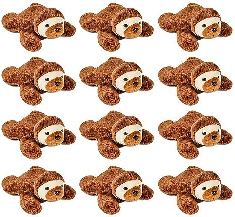 amazon com wildlife tree 3 5 inch sloth mini small stuffed animals