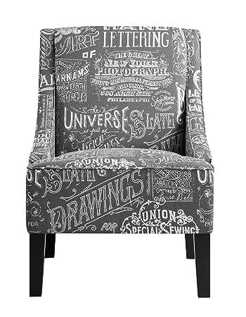 Pulaski Upholstered Arm Chair in Chalkboard Shadow, Medium, Multicolor