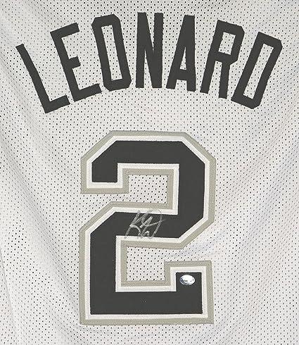 Kawhi Leonard San Antonio Spurs Signed Autographed White  2 Custom Jersey  PAAS COA 6f2e7da92