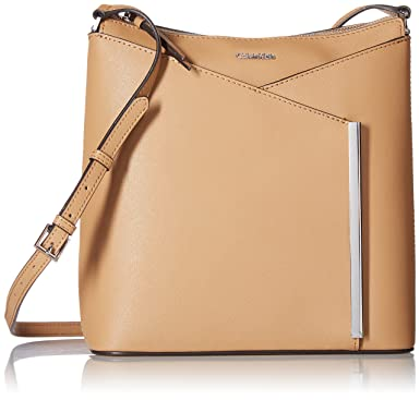 4eae184ee Calvin Klein womens Calvin Klein Mara Saffiano Crossbody, buff/cream, One  Size: Handbags: Amazon.com
