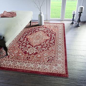 Traditioneller Klassischer Teppich Für Ihre Wohnzimmer   Rot Creme Beige    Perser Orientalisches Heriz Keshan Muster