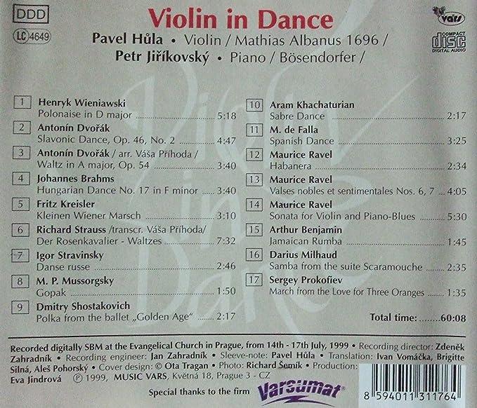 Violin in Dance by Antonin Dvorak, Richard Strauss, Dmitri