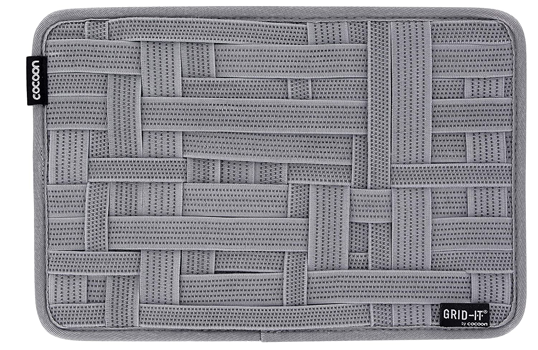 Organiseur de Poche 12 avec Sangles /élastiques//Syst/ème dorganisation//Pochette pour IPad 12 Pouces Noir-Gris Cocoon Grid-IT