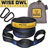 Hammock Straps By Wise Owl Outfitters - Combined 20 Ft Long, 38 Loops W/ 2 Carabiners - Easily Adjustable, Tree Friendly Must Have Gear For Camping Hammocks Like Eno